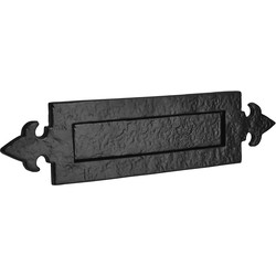 Old Hill Old Hill Ironworks Letter Plate 370mm x 95mm Fleur De Lys - 15426 - from Toolstation