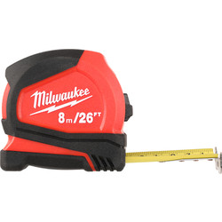Milwaukee Milwaukee Pro Compact Tape Measure 8m/26ft - 15499 - from Toolstation