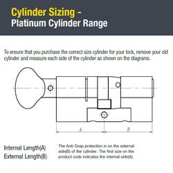 Yale Platinum 3 Star Euro Thumbturn Cylinder
