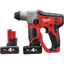 Milwaukee M12H 12V Li-Ion Cordless Compact SDS 2 Mode Hammer Drill 2 x 4.0Ah