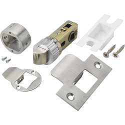 "Easy Latch Tubular Latch 2 1/2"" Satin"