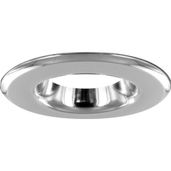 Integral LED Integral LED White Integrated Fire Rated IP65 Downlight Bezel Chrome - 15728 - from Toolstation
