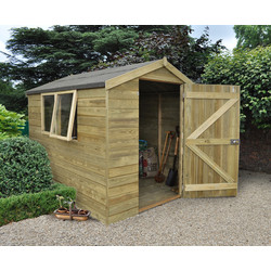 Forest Forest Garden Tongue and Groove Pressure Treated Apex Shed 8 x 6ft - 15736 - from Toolstation
