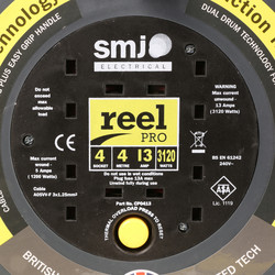 SMJ Reel Pro 4 Socket 13A Cable Reel