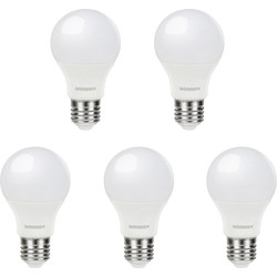 Wessex Electrical Wessex A60 GLS Dimmable Bulb 9W ES Cool White 806lm - 15917 - from Toolstation