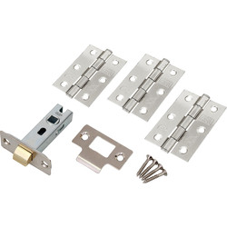 Fire Door Grade 7 Hinge & Latch Pack Polished Chrome - 16090 - from Toolstation