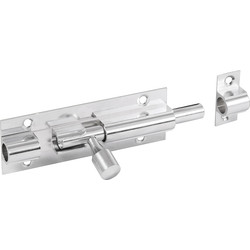 Chrome Door Bolt 50mm Straight - 16097 - from Toolstation
