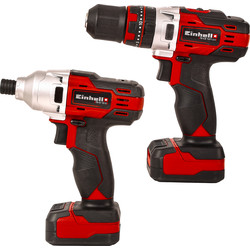 Einhell Einhell TE-TK 12 Li 12V Cordless Combi Drill & Impact Driver Twin Pack 2 x 2.0 Ah - 16098 - from Toolstation