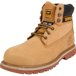 CAT Caterpillar Holton Safety Boots Honey Size 7 - 16107 - from Toolstation