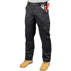 "Scruffs Scruffs Worker Trousers 38"" R Black - 16131 - from Toolstation"
