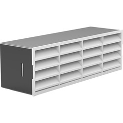 Verplas 204mm Horizontal Louvred Air Brick  - 16279 - from Toolstation