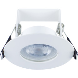 Integral LED Integral LED 3.8W Evofire+ IP65 Integrated Fire Rated Dimmable Downlight White 390lm Warm White - 16377 - from Toolstation