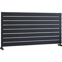 Ximax Ximax Oxford Single Horizontal Designer Radiator 595 x 1200mm 2614Btu Anthracite - 16393 - from Toolstation