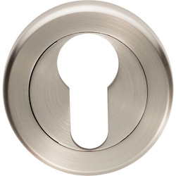 Serozzetta Serozzetta Euro Profile Escutcheon On Round Rose Satin Nickel - 16408 - from Toolstation
