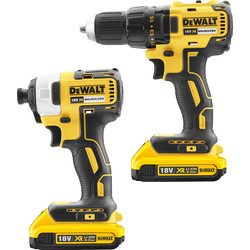 DeWalt DeWalt DCK2059D2T-GB 18V XR Cordless Brushless Drill Driver & Impact Driver Twin Pack 2 x 2.0Ah - 16467 - from Toolstation