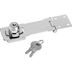 Master Lock Master Lock Chrome Plated Steel Locking Hasp 118mm - 16509 - from Toolstation