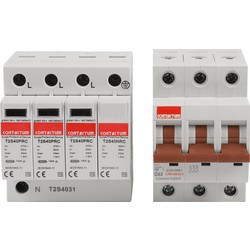 Contactum Contactum Surge Protection Device Type 2 40KA 3+1 - 16546 - from Toolstation