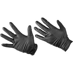 Black Mamba Black Mamba Super Tough Disposable Gloves Large - 16577 - from Toolstation