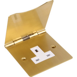 Floor Socket Single Brass - 16582 - from Toolstation