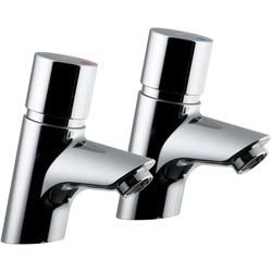 Ideal Standard Ideal Standard Avon 21 Self Closing Pillar Taps Basin - 16583 - from Toolstation