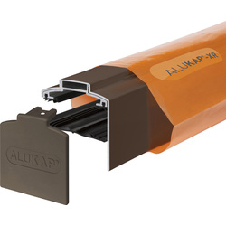 Alukap Alukap-XR Concealed Fix Gable Bar with Gasket Brown 3000mm - 16644 - from Toolstation