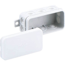 Unbranded Junction Box IP55 Mini With 3 x 2.5mm2 Terminals Interlocking - 16740 - from Toolstation