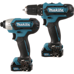 Makita CLX201AJ Li-Ion 10.8V Cordless Twin Pack 2 x 2.0Ah