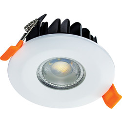 Integral LED Integral LED Integrated Fire Rated IP65 Dimmable Colour Switching CCT Downlight 6W 500lm White - 16832 - from Toolstation