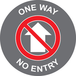 Centurion 'One Way - No Entry' Floor Graphic 400mm - 16861 - from Toolstation