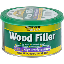 Everbuild Everbuild High Performance Wood Filler 500g White - 16873 - from Toolstation