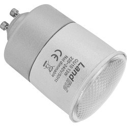 Energy Saving CFL Lamp GU10 13W 300lm B - 16948 - from Toolstation