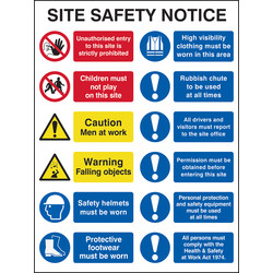Composite Site Safety Notice  - 16971 - from Toolstation