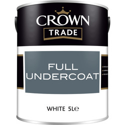 Crown Trade Crown Trade Undercoat Paint 5L White - 17054 - from Toolstation
