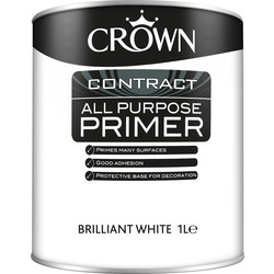 Crown Contract Crown Contract All Purpose Primer White 1L - 17176 - from Toolstation
