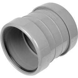 Coupling 110mm Double Socket Grey