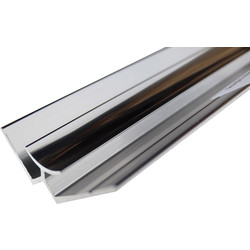 Mermaid Mermaid Acrylic Polished Silver Shower Wall Panel Trims Internal Corner 2440mm - 17236 - from Toolstation