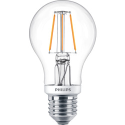 Philips Philips LED Filament A Shape Dimmable Lamp 5.5W ES (E27) 470lm - 17310 - from Toolstation