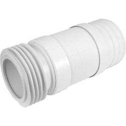 McAlpine McAlpine WC-F21R Flexible WC Connector 90-114mm Inlet x 110mm Outlet - 17320 - from Toolstation