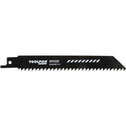 Toolpak Reciprocating Saw Blade 150mm Wood - 17328 - from Toolstation