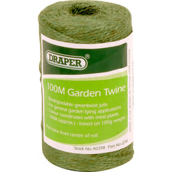 Draper Green Garden Twine 100m - 17466 - from Toolstation