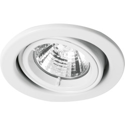 Halolite Cast Ring 240V/12V Adjustable Downlight White - 17615 - from Toolstation