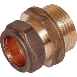 Compression Coupler Male 15mm x 1/2""
