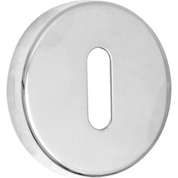 Urfic Lock Escutcheon Set Polished Nickel - 17701 - from Toolstation