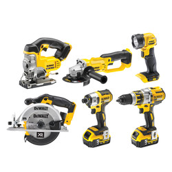 DeWalt DCK694P3-GB 18V XR Li-Ion Cordless Brushless 6 Piece Kit