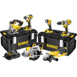 DeWalt DeWalt DCK694P3-GB 18V XR Li-Ion Cordless Brushless 6 Piece Kit 3 x 5.0Ah - 17783 - from Toolstation