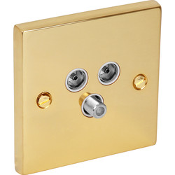 Victorian TV / Satellite Socket Outlet Satellite/TV/FM - 17933 - from Toolstation
