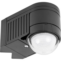 Zinc 360° Corner Mount PIR Sensor Black - 17943 - from Toolstation