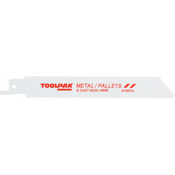 Toolpak Reciprocating Saw Blade Wood & Metal - 17950 - from Toolstation