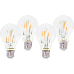 Sylvania Sylvania LED RT A60 Filament Clear GLS Lamp 4.5W ES (E27) 470lm - 18018 - from Toolstation