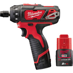 Milwaukee Milwaukee M12BD 12V Li-Ion Cordless Compact Driver 2 x 2.0Ah - 18028 - from Toolstation